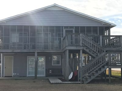 Photo for Perfect Canal Front Cottage! Swim, Dock and Play! Short Walk to Beach!