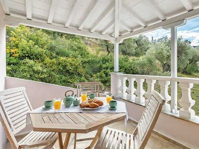 Photo for Villa in elevated position, reached by winding, narrow roads, w/ pool, BBQ area  + harbour view