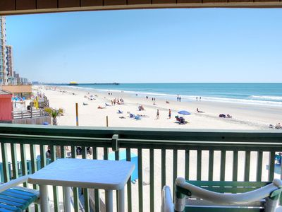 Photo for Outstanding ocean front views in fabulous beach condo location!