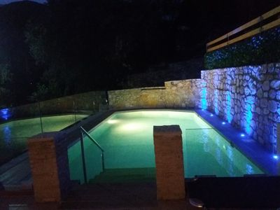 Photo for Parga villa .  3 floor with private pool  in the center , stunning view