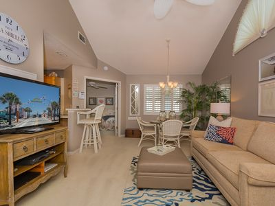 Photo for Beautifully decorated 2 bedroom 2 bath condo. Walking distance to the beach.  SBC890