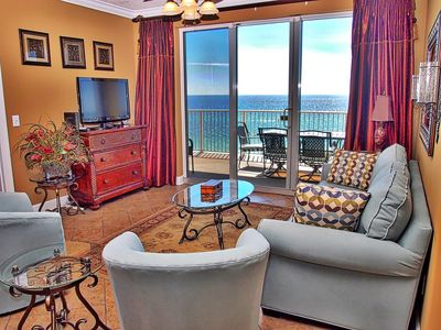 Photo for Stunning 3 Bedroom, 7th Floor, Corner Unit with 2 Gulf-Front Masters w/ View!
