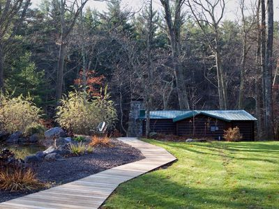 Photo for The Lehigh Cabin - Your Private Riverfront Escape in the Poconos