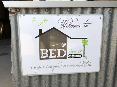 Photo for Bed in a Shed Luxury Vineyard Accomodation
