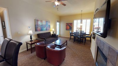 Photo for Upstairs One Bedroom Legacy Villas Retreat Overlooking a Community Fountain!
