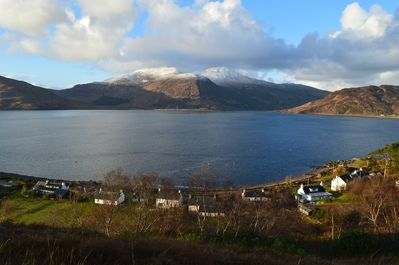 Skye mountains, and Glenelg Bay with Tigh-na-Camus below