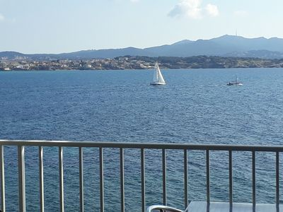 Photo for Appt T3 beautiful view on the seafront, quiet 5 people 5 minutes from the port and shops