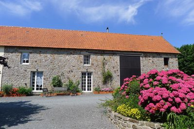 La Vacherie viewed from the courtyard, part of a former barn, lovingly converted