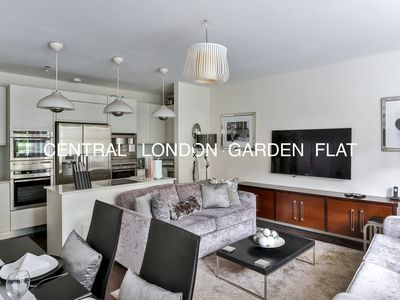 Photo for Luxurious 3 bedroom  garden flat  close to tube station in central London