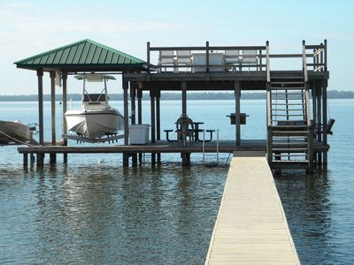Unique 2 story dock on the water!