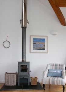 Woodturning stove for cosy evenings