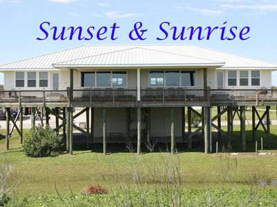 Photo for Sunrise & Sunset - Beachfront House w/ a gorgeous sunrise!