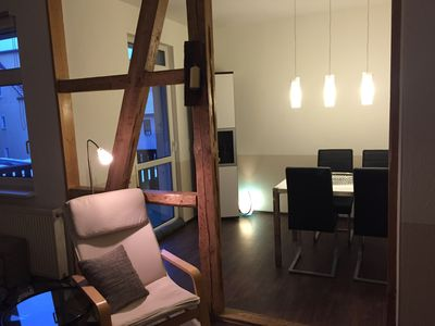 Photo for Large, bright, renovated 3 room apartment near center free wifi, parking,