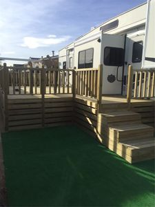 Photo for Benidorm Superior Fifth Wheel Caravan now ready for holiday rentals. Bargain
