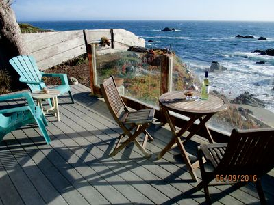 Deck, wine, ocean breezes, or a steamy cup of French roast await!