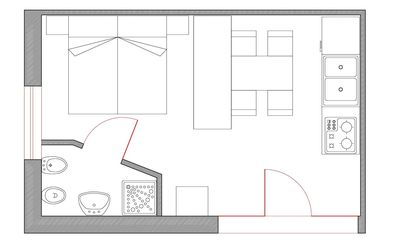 Photo for STUDIO APARTMENT FOR 2 PEOPLE