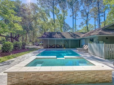 Photo for New for 2018! Remodeled Sea Pines Home, Private Pool, Free Bikes