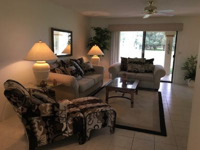 Photo for Condo right on the golf course in a 55+ community in sunny Mesa!!