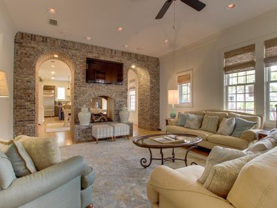 Photo for Elegant, dog-friendly home w/ porch, shared pools & beach access!