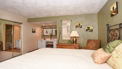 Large and private master suite