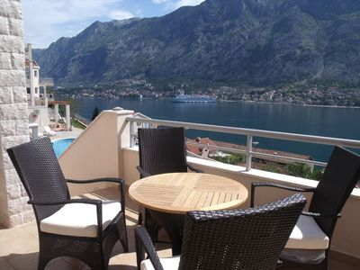 New Ground Floor Apt With Stunning Views Of Kotor Bay From The Balcony And Pool