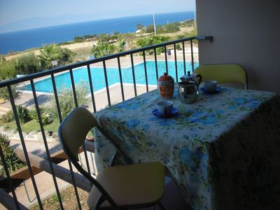 Photo for Calabria sea view apartment in a residence with beautiful pool
