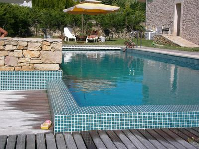 Spacious and elegant heated outdoor pool