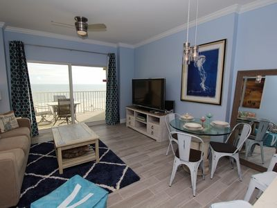 Photo for Tidewater 706-Beach Front Views From Terrace with Luxurious Interior!