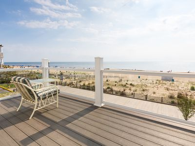 Photo for In Downtown Rehoboth Beach with View Of Boardwalk, Sand, Ocean Rents Sun to Sun