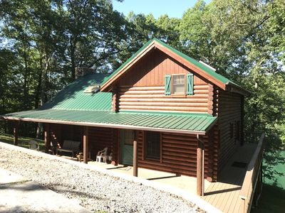 Photo for 'The Lakefront Lodge' - Spacious Lakefront 3 Bedroom W/ Private Covered Dock