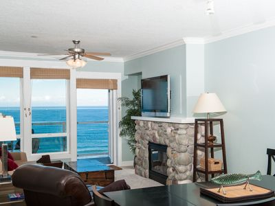 Photo for *Promo!* Top Floor Oceanfront Condo, Private Hot Tub, Pool, Wifi and Much More!