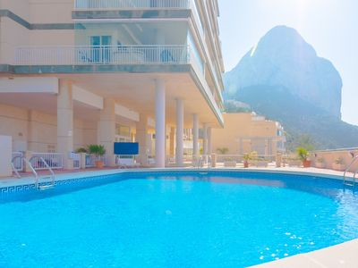 Photo for NAUTICO, bright apartment on the first line of the sea in Calp