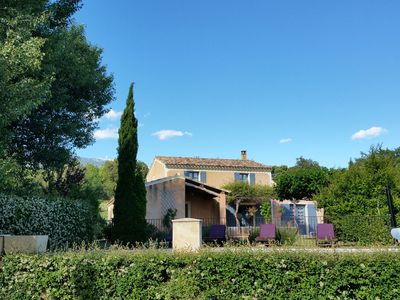 Photo for Provencal house 6 P. Bédoin / Mont Ventoux. Private swimming pool. Air conditioner. Internet.