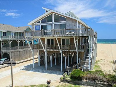 Photo for classic OCEANFRONT in Avon w/ Guest House, hot tub and stunning sunrise views