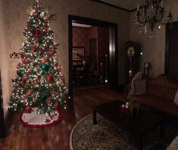 A little  bit of Christmas throughout the house!