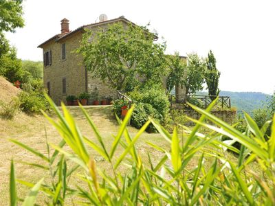 Photo for Stone villa with private pool and garden. Good Value for money, panoramic and quiet. Cortona area.
