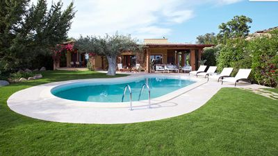 Photo for Villa Ambra with private pool in Chia, just a stone throw from the finest beach