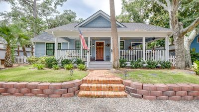 Photo for Updated Southern Charmer 2BR w/ Saltwater Pool & Grill – Walk 4 Blks to Beach