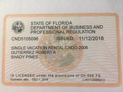 vacation Rental License