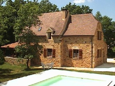 Photo for Périgourdin house with private swimming pool, spacious and comfortable