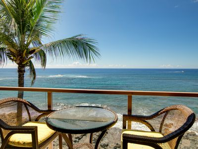 Photo for Kuhio Shores 415 Top Floor Oceanfront Condo with new central a/c