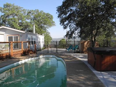 Photo for Knarly Oaks Pool House With Spa and Spectacular Views On 5 Private Acre Hilltop