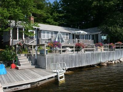 Photo for Beautiful Cottage With Double Decks On The Water And Incredible 180 Degree View