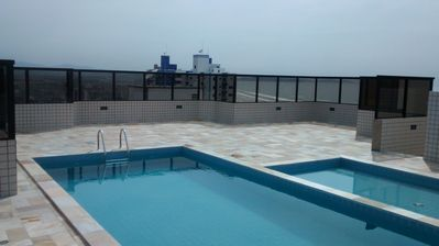 Photo for Oceanfront w / PIscina and Rooftop BBQ