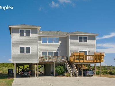 Photo for Coop's Cottage: Oceanfront, 4 bedroom duplex in Duck, private hot tub, steps to the beach.