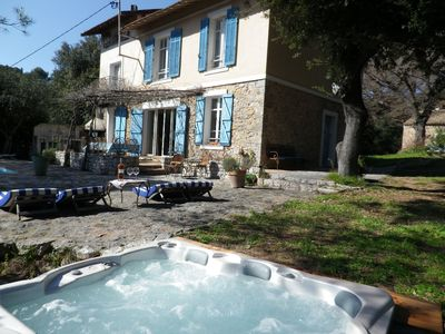 Photo for Large villa with 2 guest houses 16 people in private forest 9 Km from Cannes