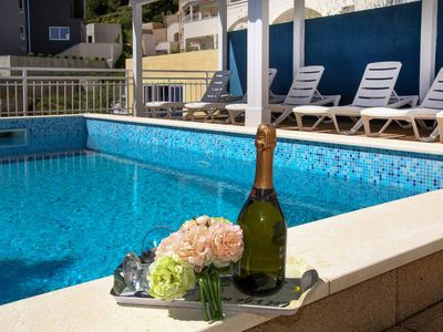 Photo for Apartment with pool for 2 to 7 people. - Quiet location - pure holiday feeling