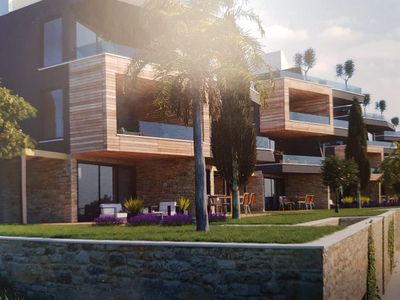 Photo for Apartment by the sea with pool New building in Banjole, Pula airport 25 km