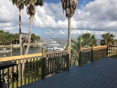 Photo for Beautiful bay front home with a boat slip!