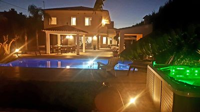 Photo for Large beach villa with whirlpool, pool, tennis court & sauna for 10 with pet